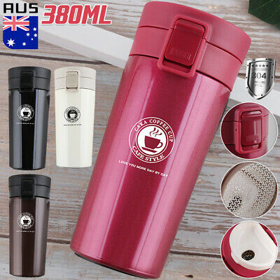 AU20.57 • Buy Insulated Travel Coffee Mug Cup Thermal Stainless Steel Flask Vacuum Thermos OZ