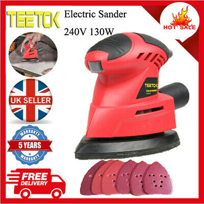 130w Electric Detail Palm Mouse Wood Sander Orbital Sanding 12000rpm Teetok • 18.90£