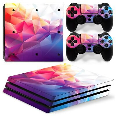 AU10.99 • Buy Diamond Geometry - PS4 Pro Vinyl Decal Cover Skin Sticker Console &Controllers