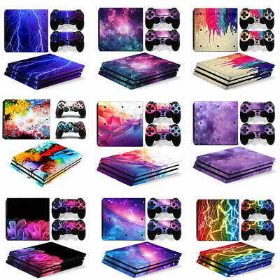 AU10.99 • Buy Sony PS4 Pro Console Controllers Skin Kit - 9 Custom Design- Sticker Decal Cover