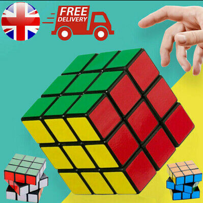 Kids Fun Rubiks Style Speed Cube Toy  Game Classic Magic Rubic Puzzle XMas Gift  • 4.99£