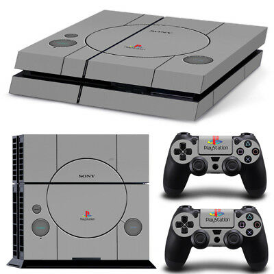 AU8.99 • Buy PS1 Retro Design Vinyl Cover Skin Sticker Decal For Sony PS4 Console Controllers