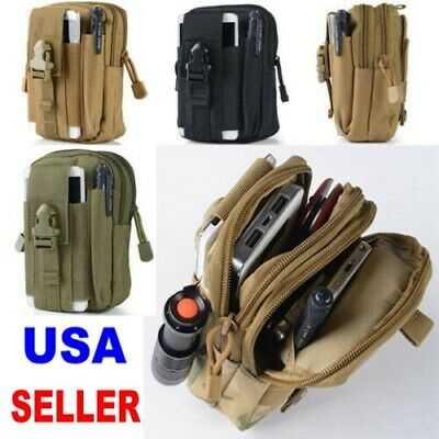 $6.93 • Buy New Military Tactical Outdoor Bag Waist Belt Pack Molle Pouch Fanny Phone Pocke