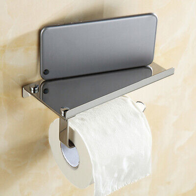 AU22.37 • Buy Wall Mounted Bathroom Toilet Paper Holder Rack Tissue Roll Stand Stainless New