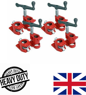 £36.99 • Buy ( 4 Pack ) 3/4  Wood Gluing Pipe Clamp Set Heavy Duty PRO Woodworking Cast Iron