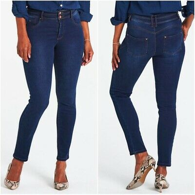 Simply Be Ladies Shaping Sculpting High Waist Straight Leg Stretch Skinny Jeans • 13.99£