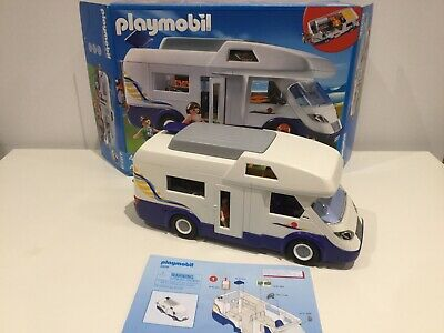 Playmobil 4859 Camper Van With Box, Instructions And Accessories As Shown • 10£