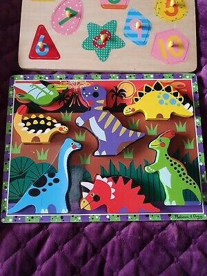 Melissa And Doug Wooden Dinosaur Puzzle • 7.99£