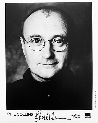 £149.99 • Buy Phil Collins HAND SIGNED 10x8 90's PROMO Photograph *IN PERSON* *COA* Genesis