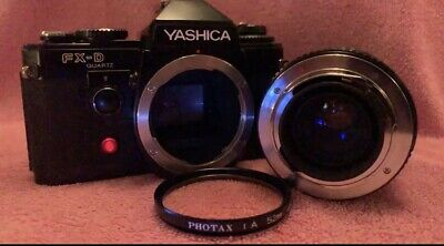 Yashica Fx-D Quartz Black. Cosmetically Perfect Recovered New Seals  MINT Zoom • 45£