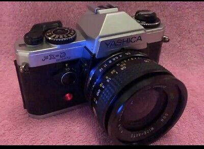 Yashica FX-D Quartz Silver. Works Perfectly. All Functions 100% • 35£