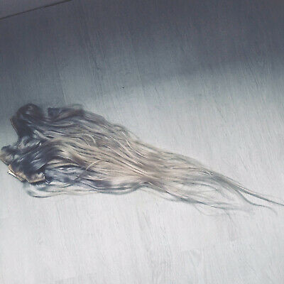 Russian Remy Human Hair Extensions Silver Blonde Worn Once🤩 • 10£