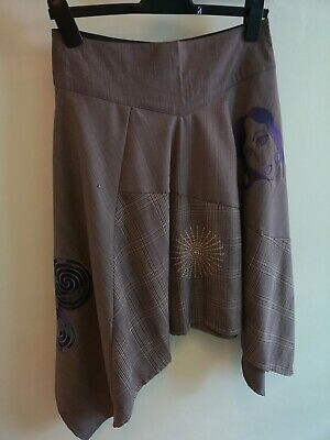 St Martins Unusual Funky Skirt. Size Small. Mostly Black/white. VGC • 5£