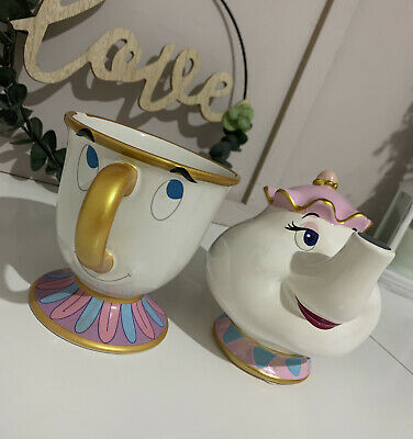 Disney Mrs Pots Money Box And Chip Mug  • 5£