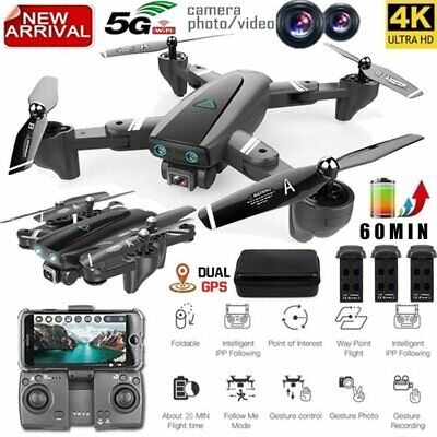 AU189.39 • Buy S167 Mini Drone WIFI FPV 2.4G/5G 4K HD Camera Foldable Selfie RC Quadcopter