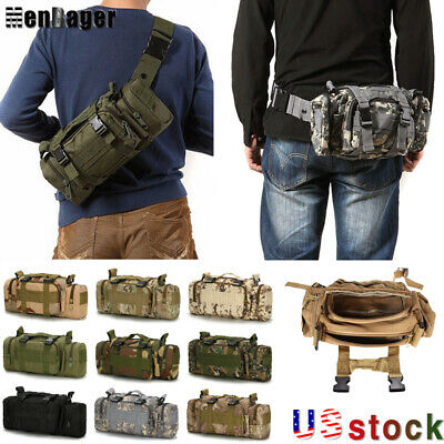 $15.90 • Buy Outdoor Military Tactical Waist Bag Molle Camping Shoulder Chest Bag Fanny Pack