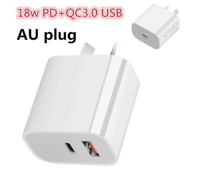 AU14.50 • Buy 18W USB-C PD Type C Fast Wall Charger Adapter AU PLUG For IPhone 12 11 Android