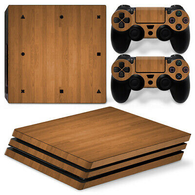 AU10.33 • Buy Vinyl Decal Protective Skin Cover Sticker For PS4 Pro Console & Controller -WOOD