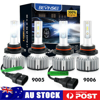 AU43.60 • Buy 4x 9005 HB3 9006 HB4 LED Headlight Globes 120W Set Fit Holden Suburban 1998-2000