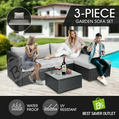 AU489.79 • Buy Garden Outdoor Furniture Couch Lounge Setting Sofa Table And Chairs Set Patio