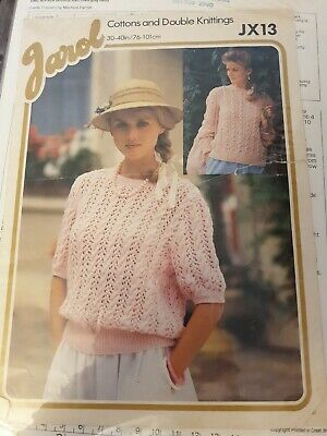 Womens Knitting Patterns.jumpers.size 30-40 Inch Bust.DK.lacy Pattern.Jarol JX13 • 0.99£