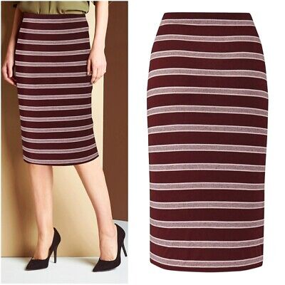 £6.99 • Buy Simply Be Ladies Elastic Stretch Formal Striped Tube Pencil Skirt Size 22 24 30