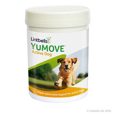 Lintbells Yumove Young & Active Dog Joint Support Glucosamine 240 Tablets 12/20 • 29.50£