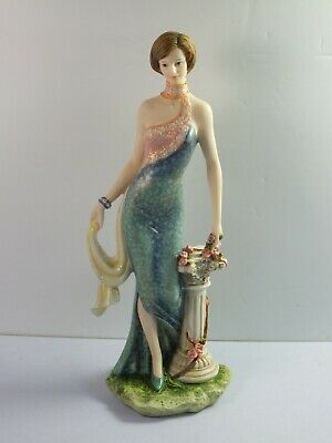 The Regal Collection Figurine MELISSA 90345 - Lady In Blue Dress - 26cm Tall • 19.99£