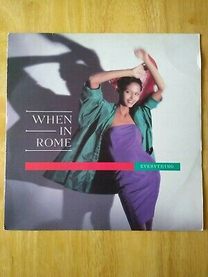 Vinyl Record, When In Rome, Everything, 12  E.P. Vinyl, 10 Records 1988 • 8.90£