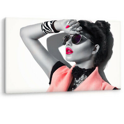 £29.95 • Buy Beauty Fashion Model Girl Sunglasses Glamour Frame Canvas Wall Art Picture Print