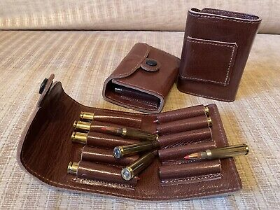 Genuine Leather Belt Ammo Pouch For Centrefire Ammunition. • 25£