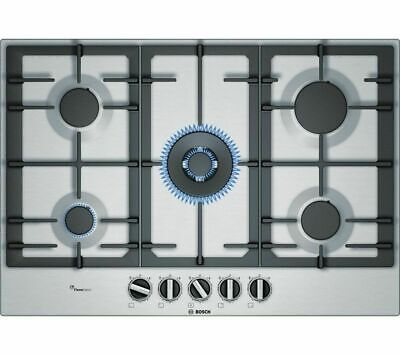 BOSCH PCQ7A5B90 Gas Hob - Stainless Steel LPG Convertible  • 399£