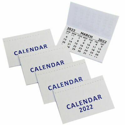 £19.99 • Buy 2021 Mini Calendar, Children Adult Office Planning Ideal For Wallet, Pack Of 5