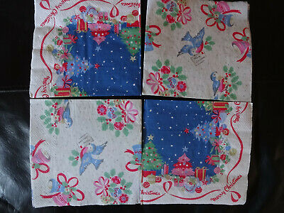 Cath Kidston Christmas Paper Napkins X4 Full Size Decoupage Craft • 4£