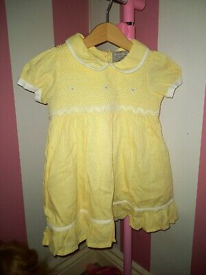 Baby Girl Rock A Bye Baby Yellow Dress With Matching Frilly Pants Age 3-6 Months • 4£