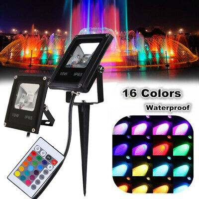 Garden RGB IP65 16 Color LED Lights Outdoor Remote Control Bulb Bright Lamp NEW • 11.98£