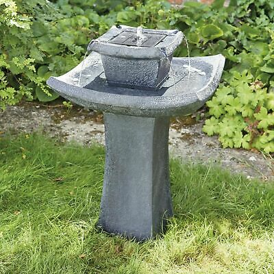 Pagoda Cascading Water Feature Solar Powered 72cm Stone Garden Fountain Ornament • 99.99£