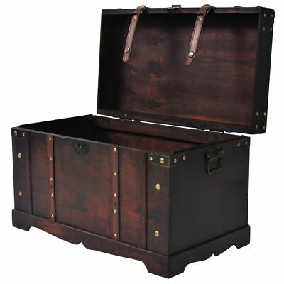 £117.99 • Buy VidaXL Vintage Large Treasure Chest Wooden Box Chest Trunk Box Coffee Table UK