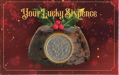 Your Lucky Christmas Xmas Pudding Old Sixpence Coin Celebration Coin Gift • 0.99£