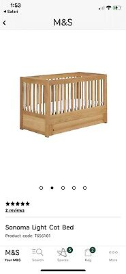 Marks And Spencer COT BED Sonoma Solid Oak • 80£
