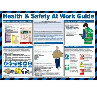£19.99 • Buy Health And Safety At Work Poster
