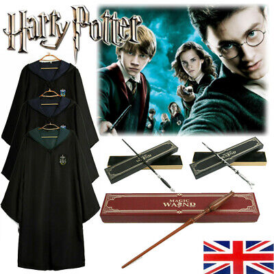 Harry Potter Magic Robe Hermione Cosplay Adult Costume Gryffindor Wands Props UK • 13.99£