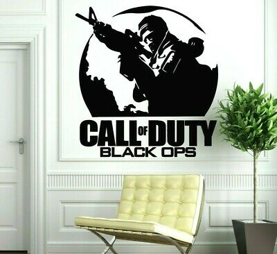 £16.99 • Buy Call Of Duty Black OPS Picture And Text Wall Vinyl Art