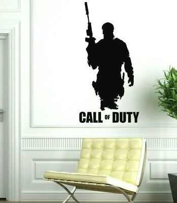 £8.99 • Buy Call Of Duty And Soldier Wall Vinyl Art