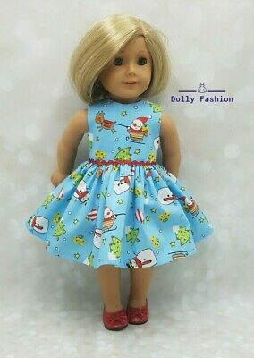 Christmas Santa Snowman Dress Fits Our Generation Fit American Girl 18  Doll • 7.95£