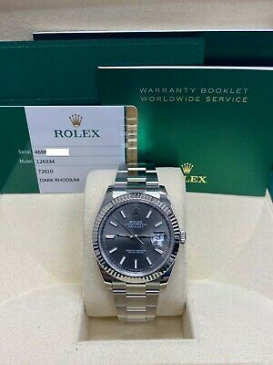 $ CDN14396.32 • Buy BRAND NEW Rolex Datejust 41 126334 Rhodium Dial Stainless Steel Box Papers