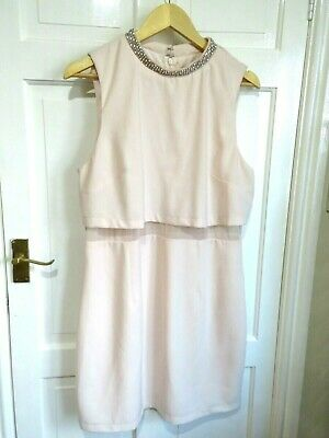 AU16.21 • Buy ASOS Size 18 Dress Pink Crystal Neck  New NO TAGS