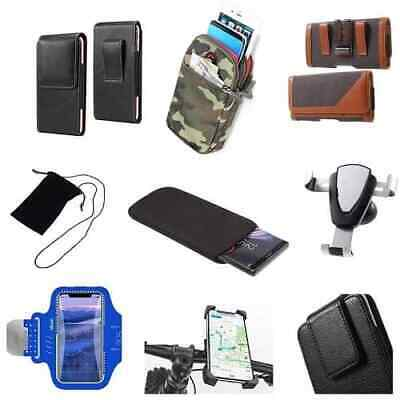 £8.54 • Buy Accessories For HTC Desire 19+ (2019): Case Sleeve Belt Clip Holster Armband ...