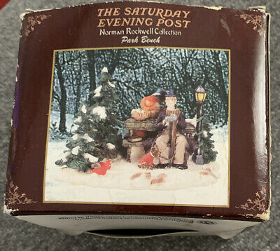 $ CDN7.34 • Buy Norman Rockwell Collection  Park Bench  The Saturday Evening Post Figurines
