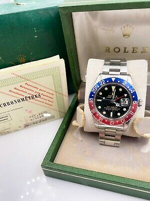 $ CDN31134.72 • Buy Vintage Rolex GMT Master 1675 Pepsi Stainless Steel Box Papers 1965